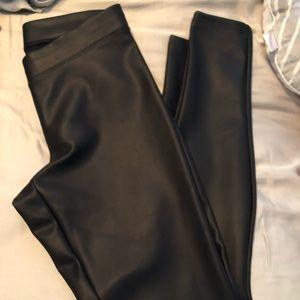 Express Faux Leather Pants , size medium